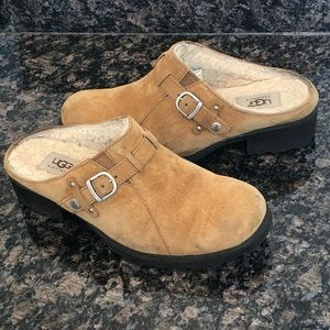 UGG Women's Suede Slip On Mules Clogs